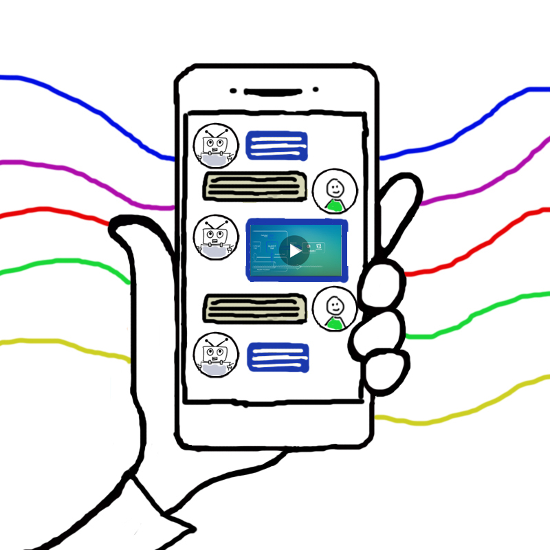 Chatbot-ready video account-based marketing