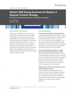 Image of Modern B2B Buying Experiences Require A Singular Content Strategy.
